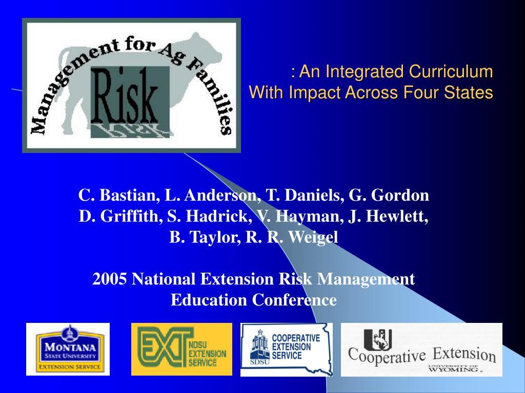 : An Integrated Curriculum