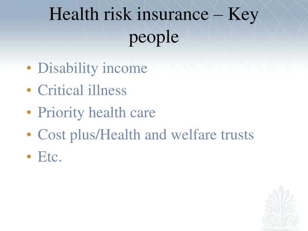 Health risk insurance – Key people