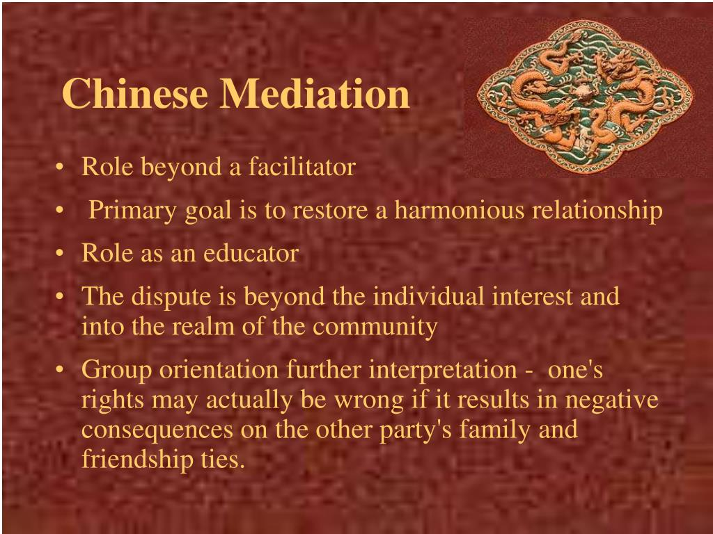 Chinese Mediation