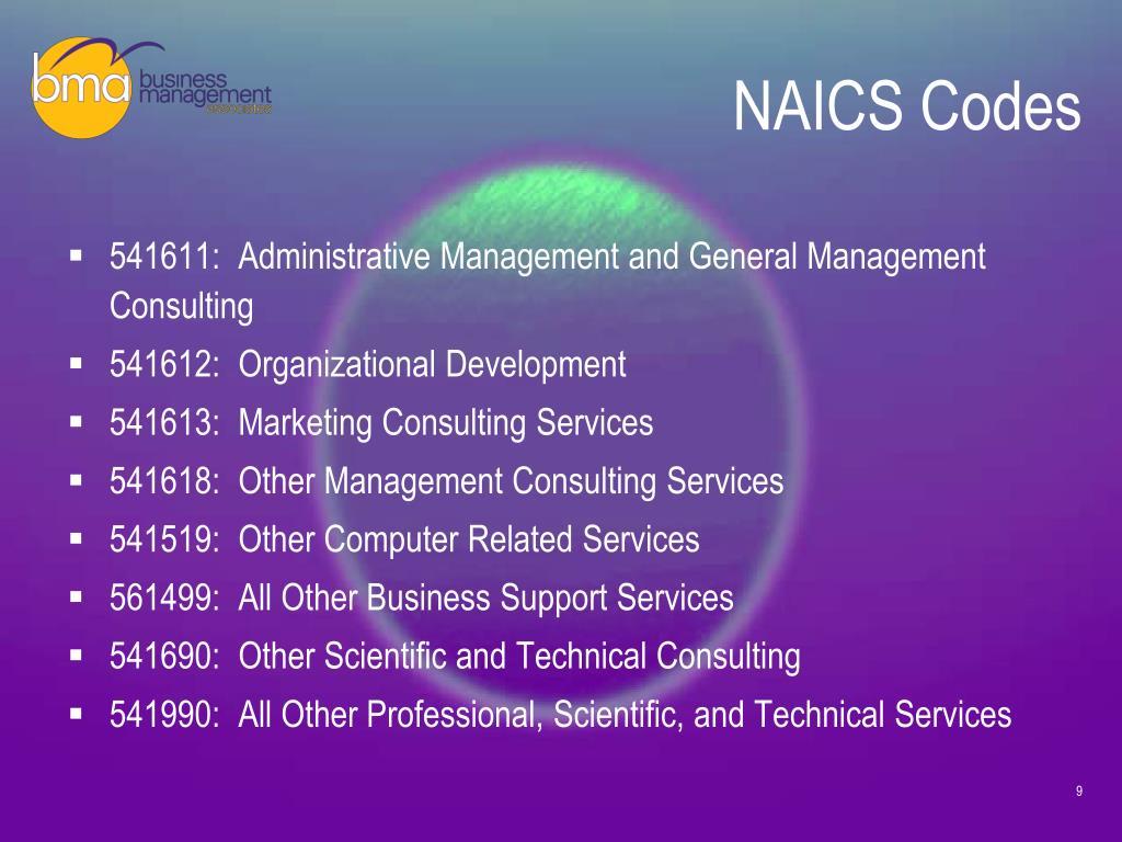 NAICS Codes