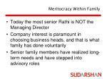 meritocracy within family