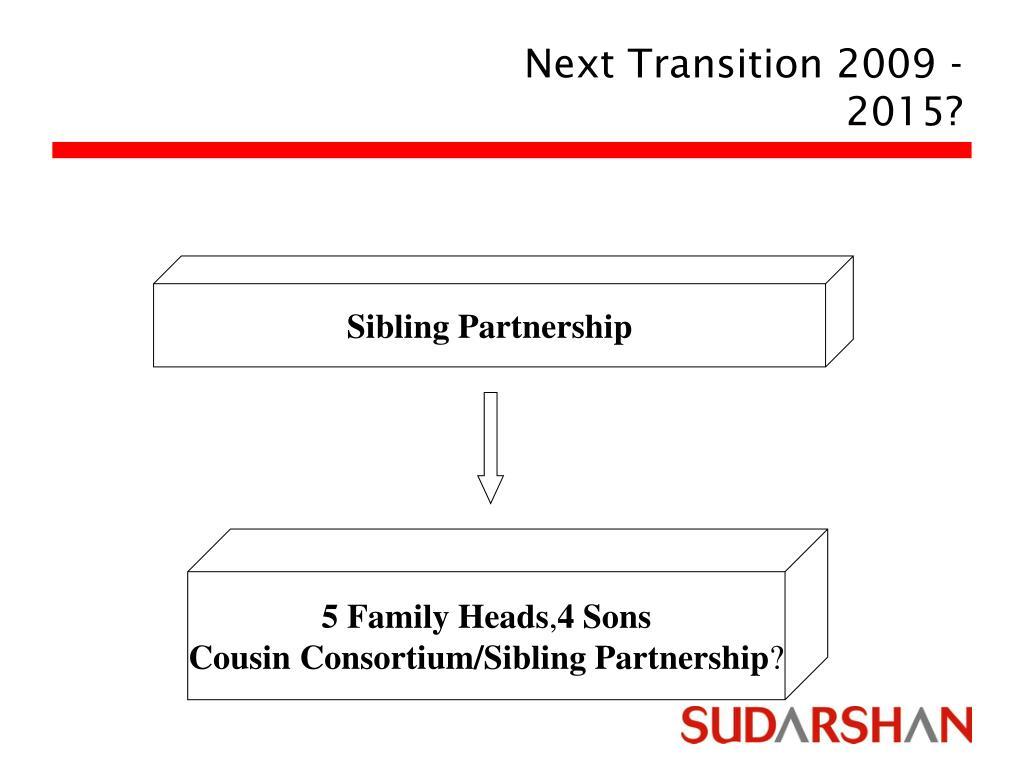 Next Transition 2009 -2015?