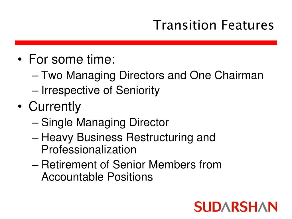 Transition Features