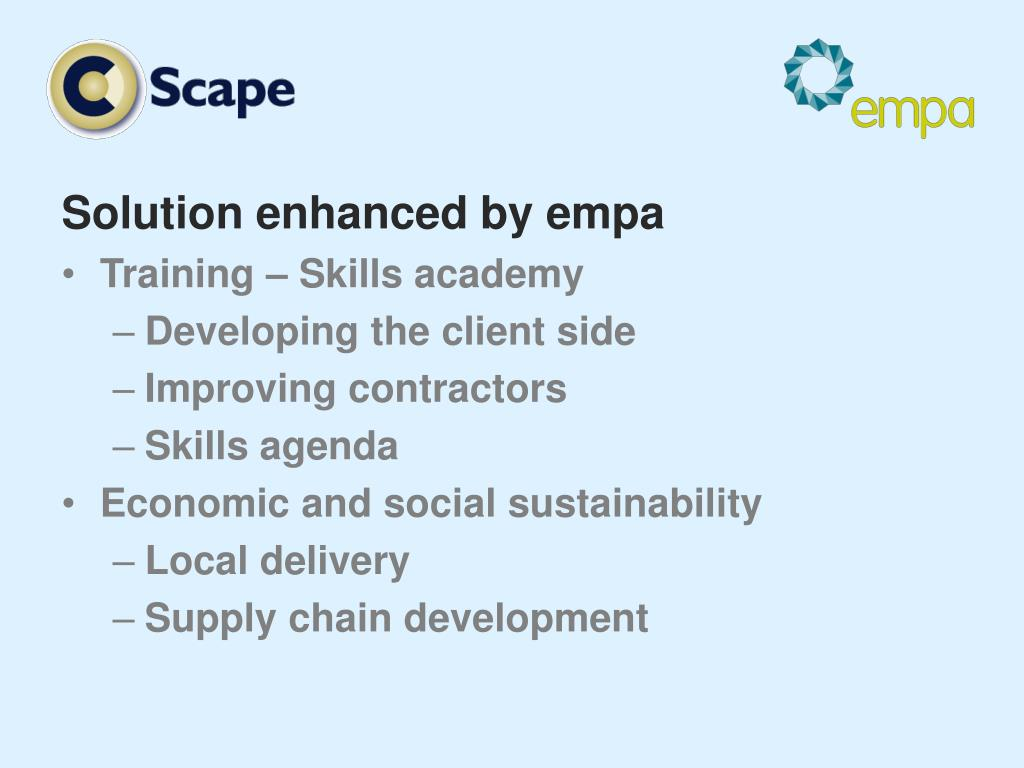 Solution enhanced by empa