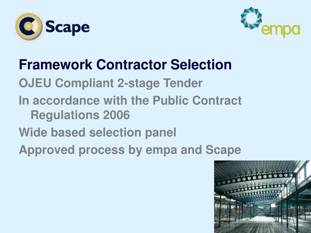 Framework Contractor Selection