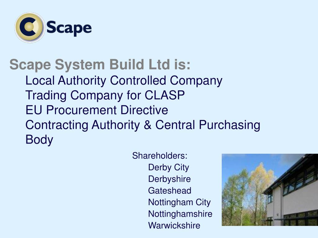 Scape System Build Ltd is: