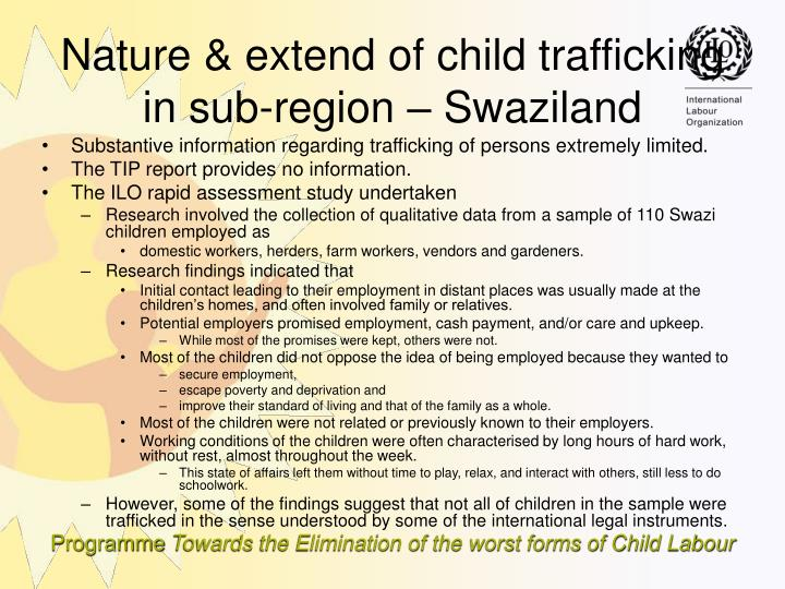 Substantive information regarding trafficking of persons extremely limited.