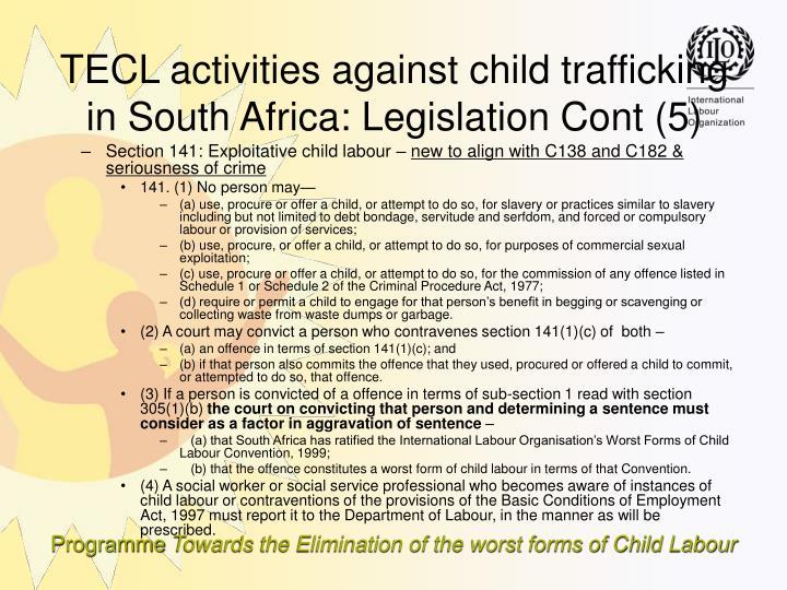 Section 141: Exploitative child labour –