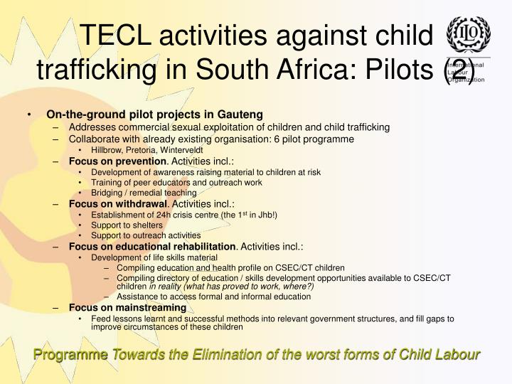 On-the-ground pilot projects in Gauteng