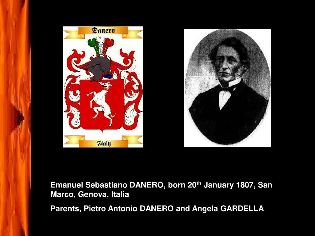 Emanuel Sebastiano DANERO, born 20