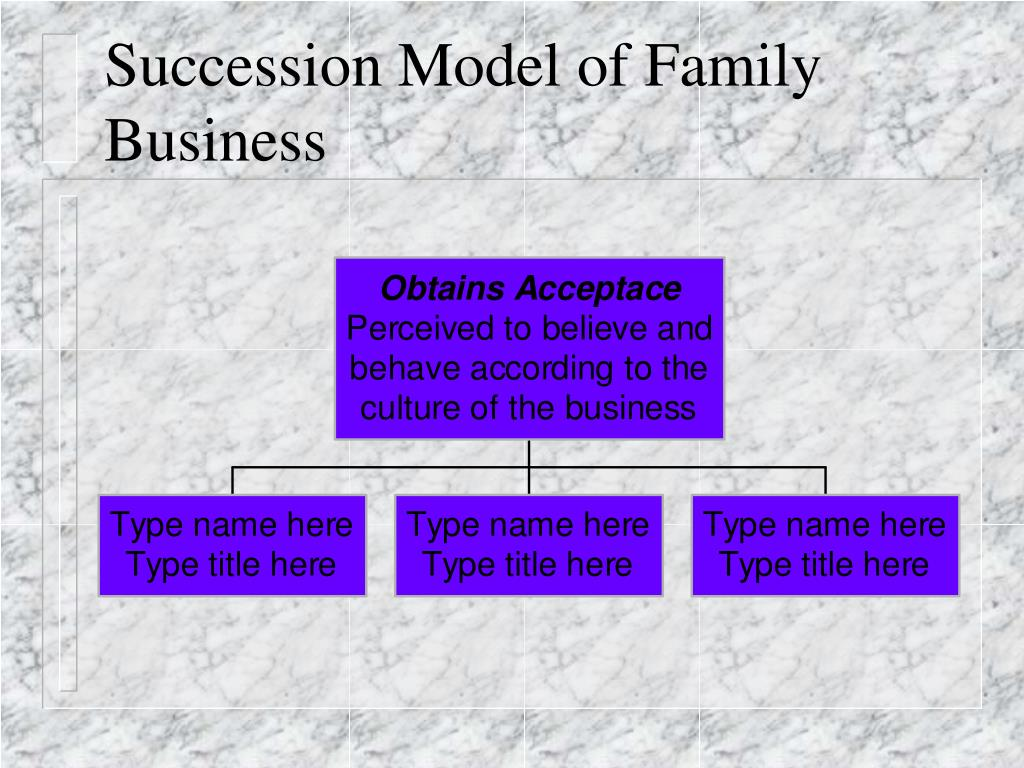Succession Model of Family Business