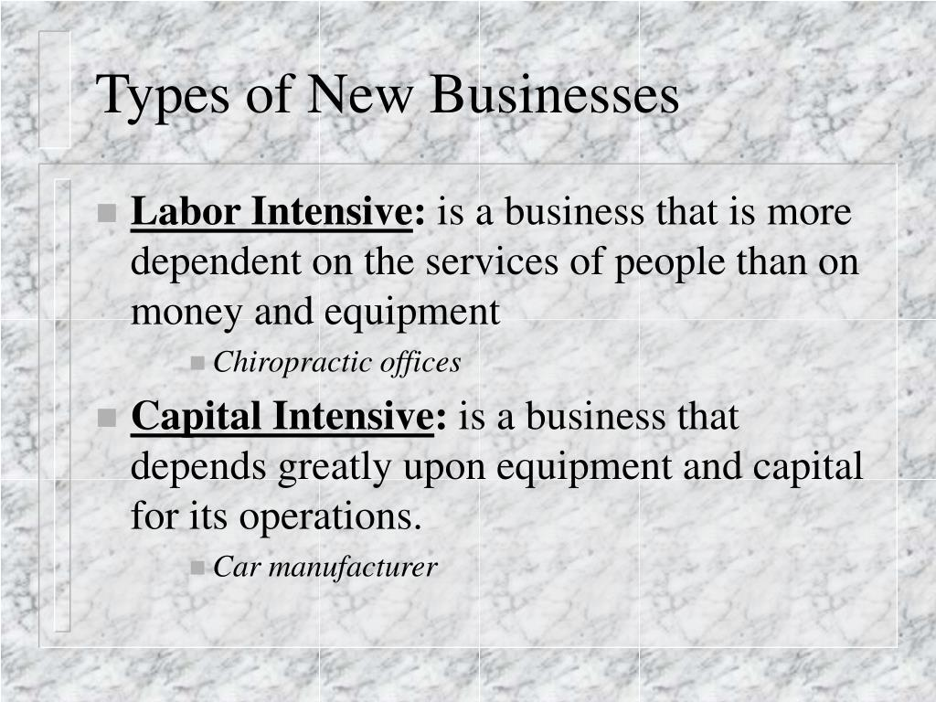 Types of New Businesses