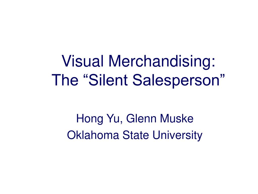 Visual Merchandising: