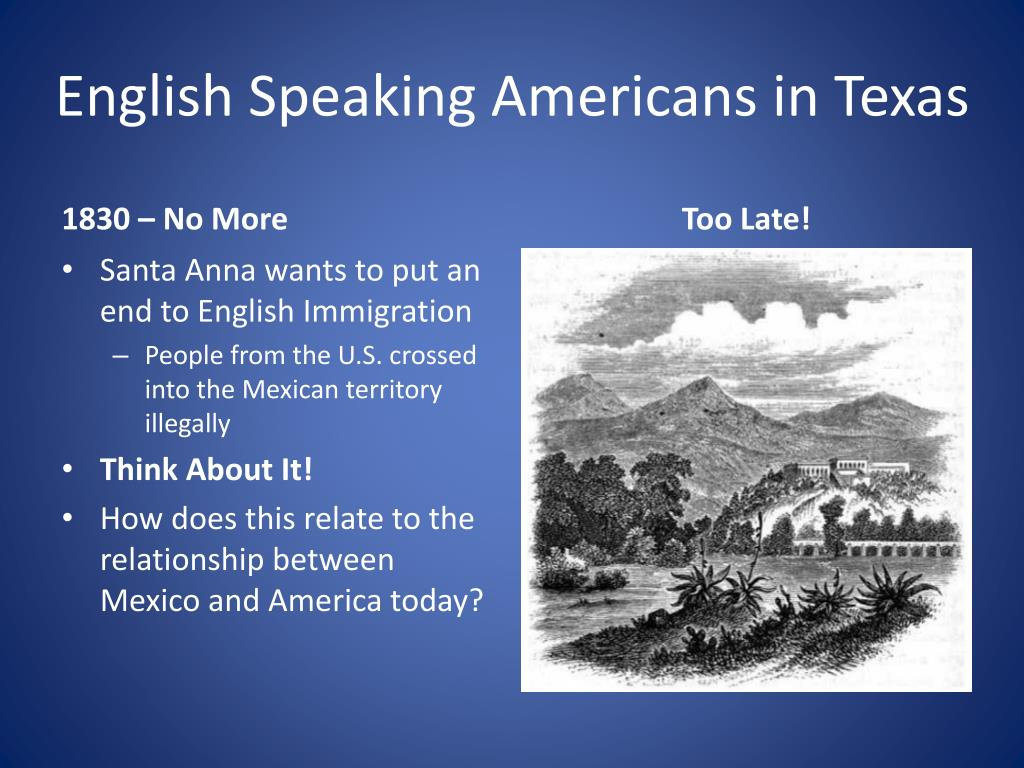 English Speaking Americans in Texas
