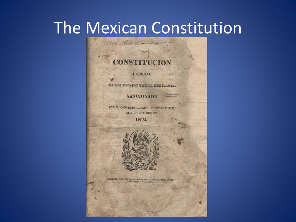 The Mexican Constitution