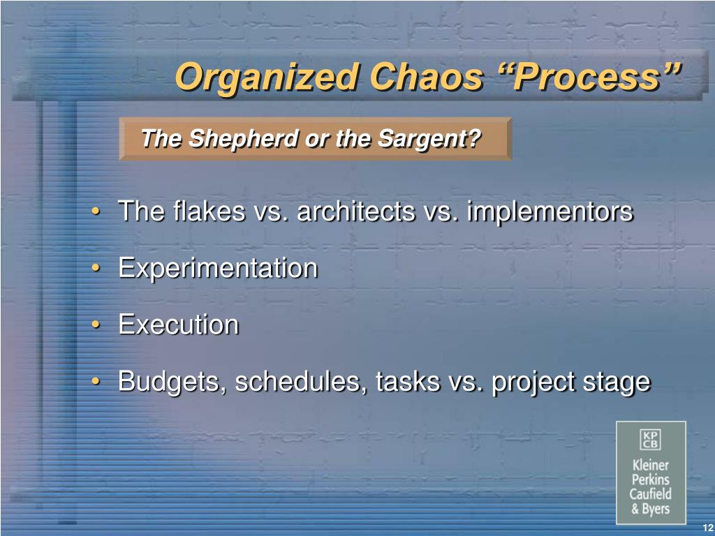 "Organized Chaos ""Process"""