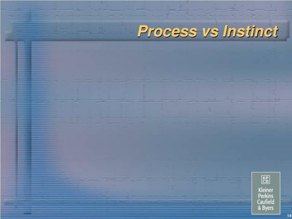 Process vs Instinct