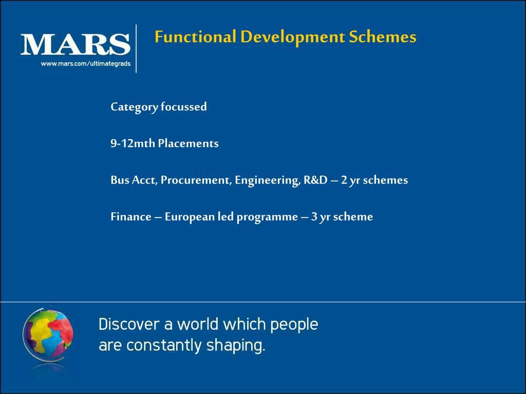 Functional Development Schemes