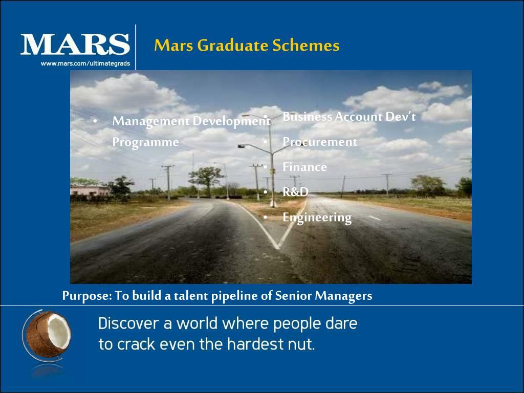 Mars Graduate Schemes