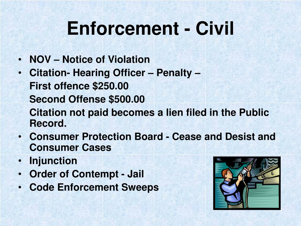 Enforcement - Civil