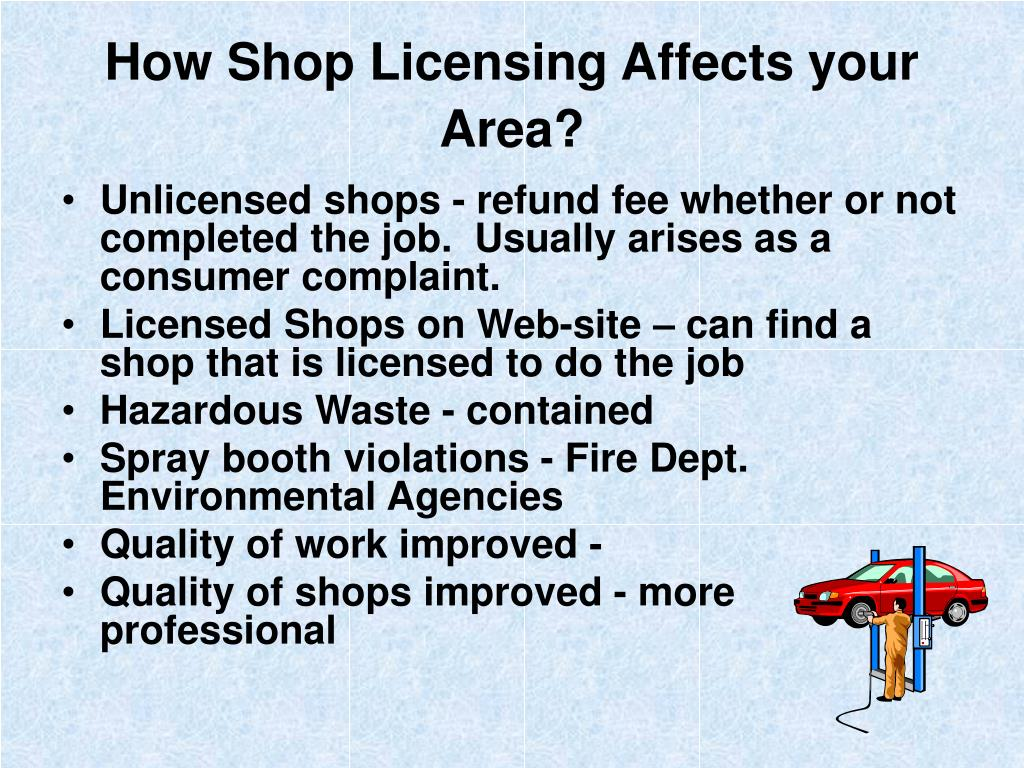 How Shop Licensing Affects your Area?
