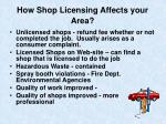 how shop licensing affects your area