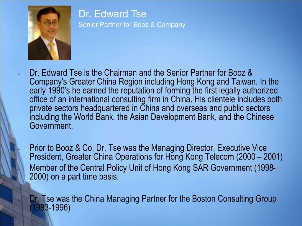 Dr. Edward Tse