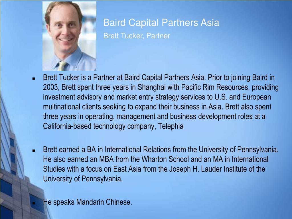 Baird Capital Partners Asia