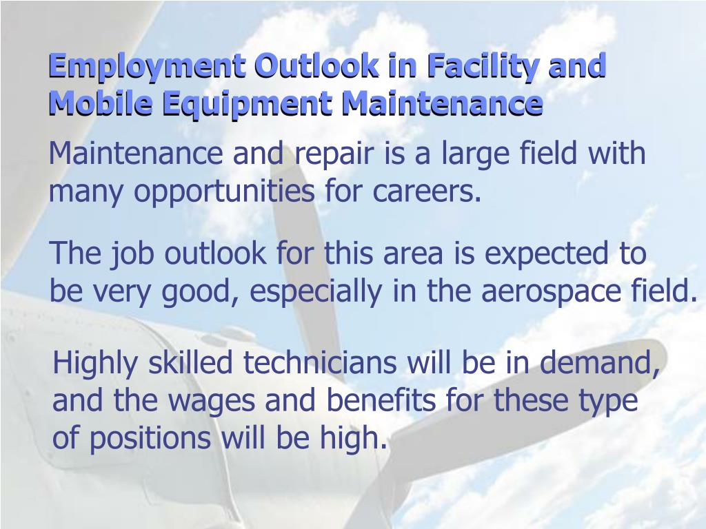 Employment Outlook in Facility and Mobile Equipment Maintenance