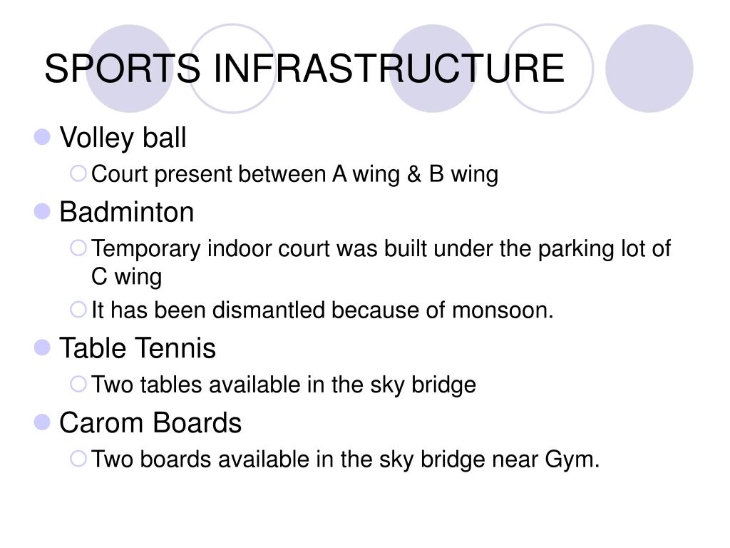 SPORTS INFRASTRUCTURE