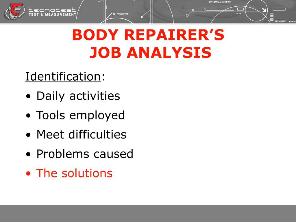BODY REPAIRER'S