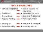 tools employed