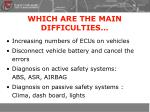 which are the main difficulties