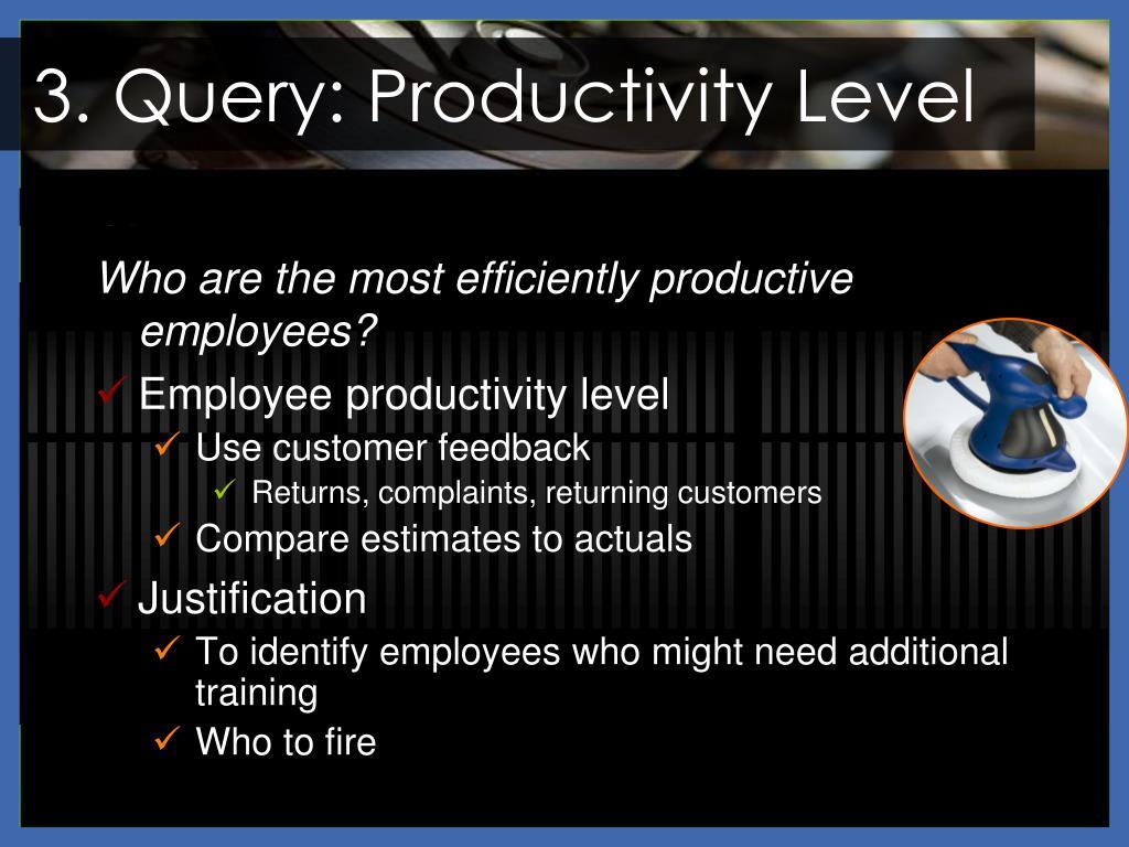 3. Query: Productivity Level
