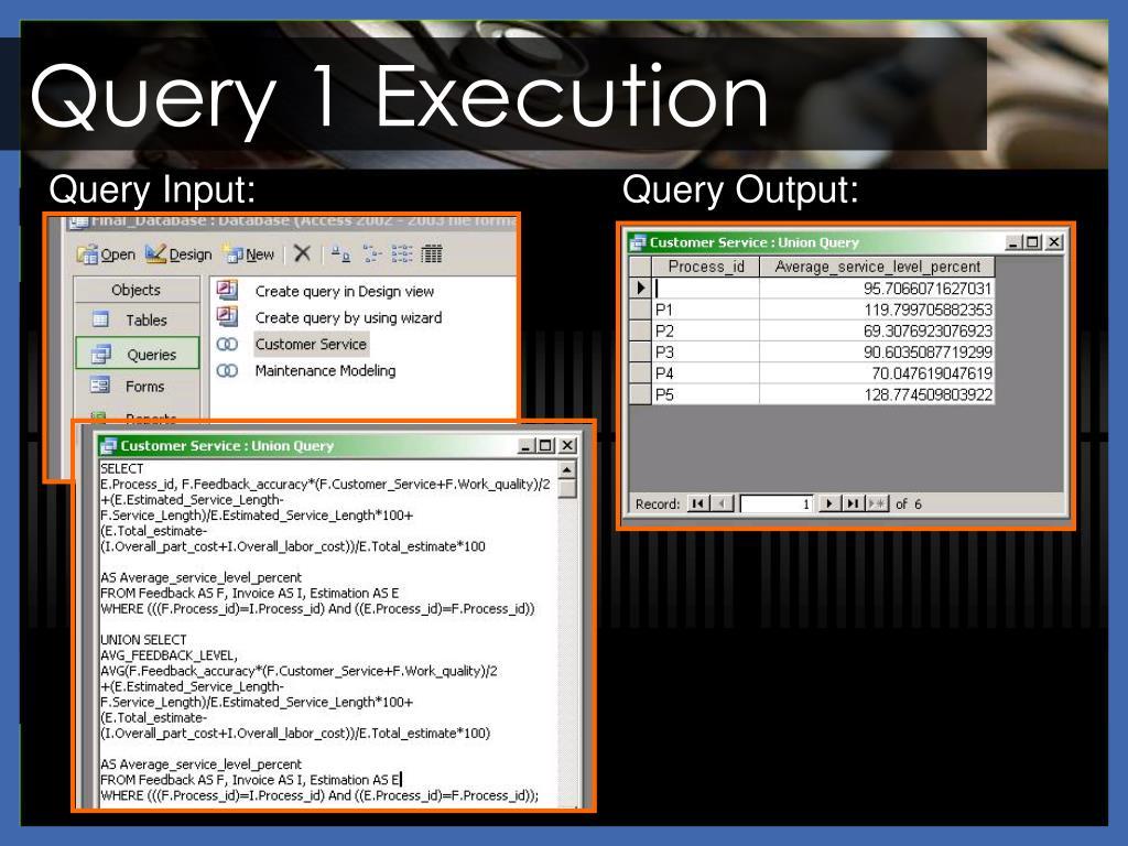 Query 1 Execution