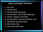 auto coverage symbols