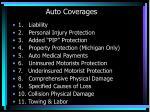 auto coverages