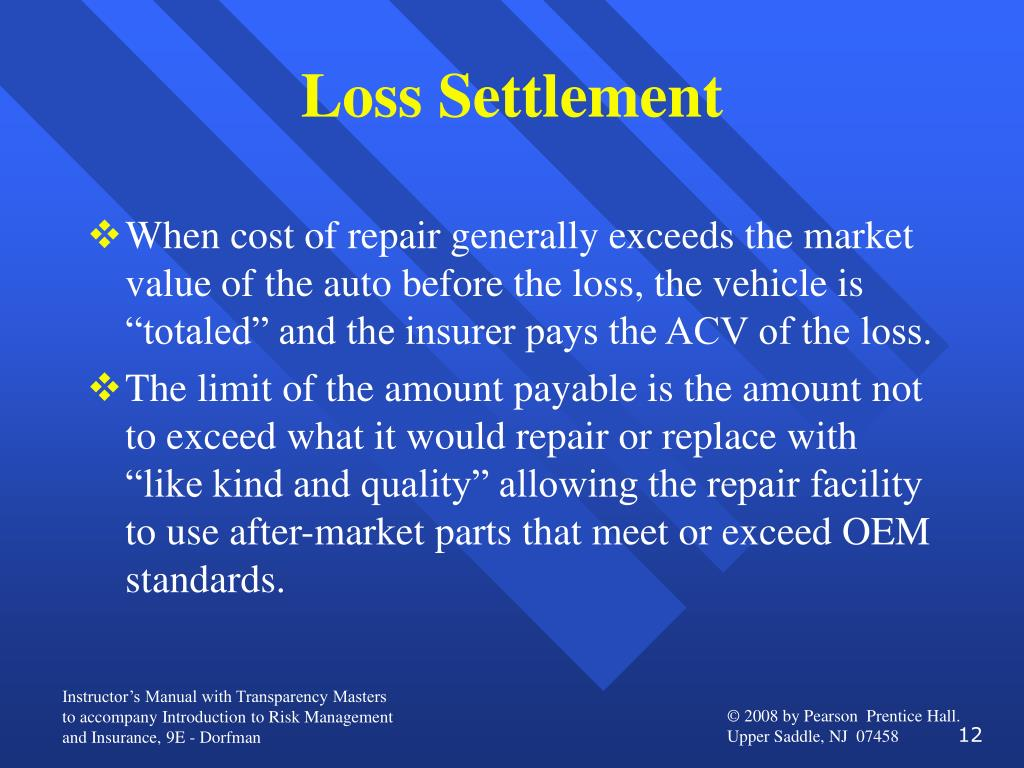 Loss Settlement