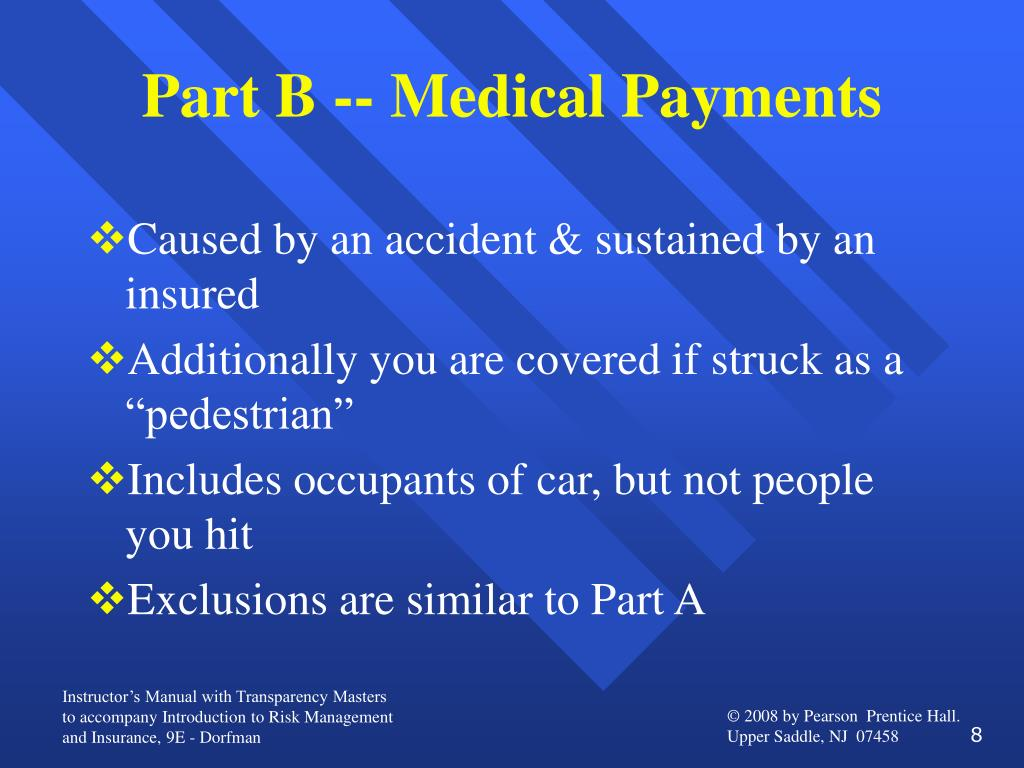Part B -- Medical Payments