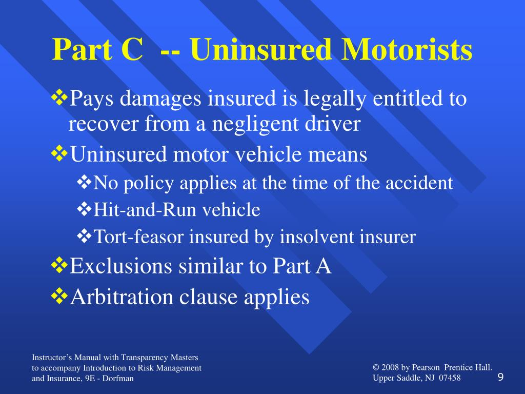 Part C  -- Uninsured Motorists