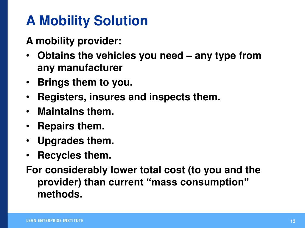 A Mobility Solution