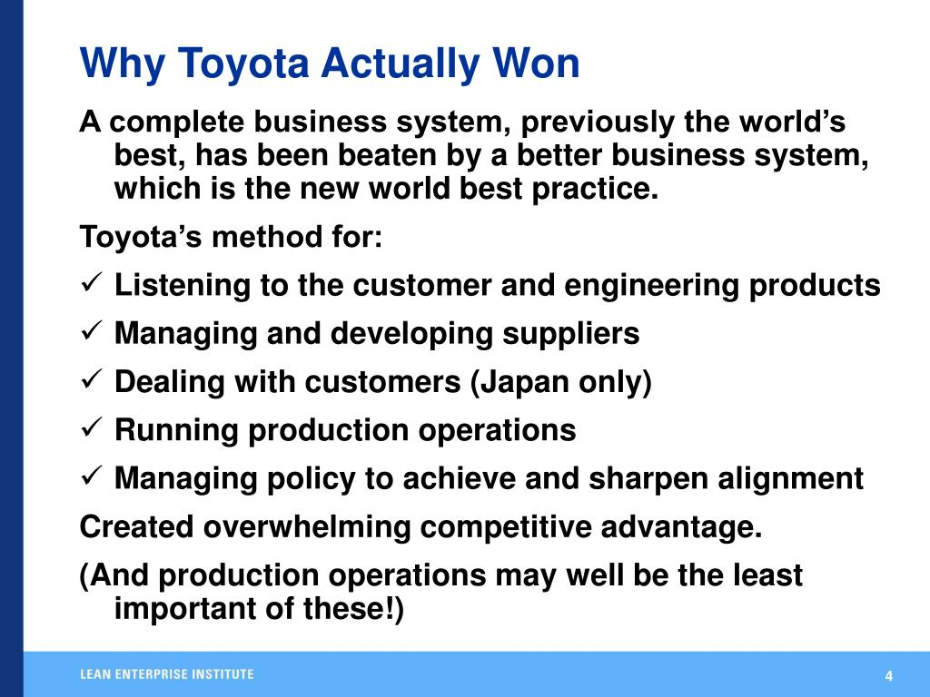Why Toyota Actually Won