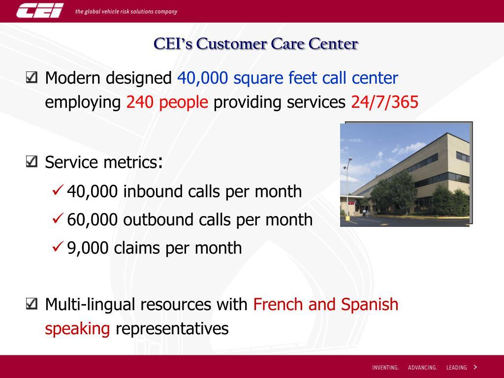 CEI's Customer Care Center