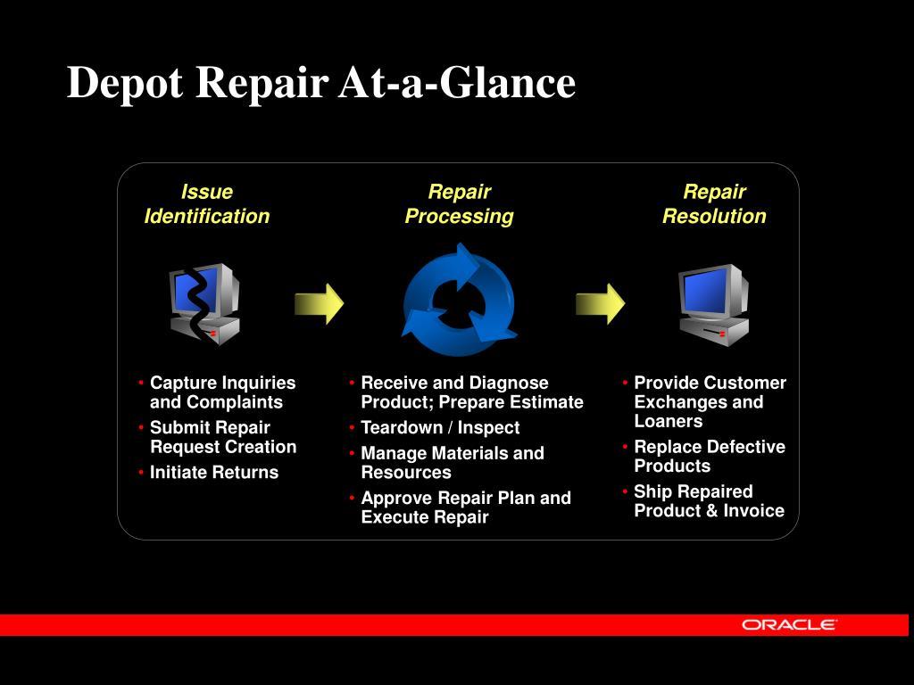 Depot Repair At-a-Glance