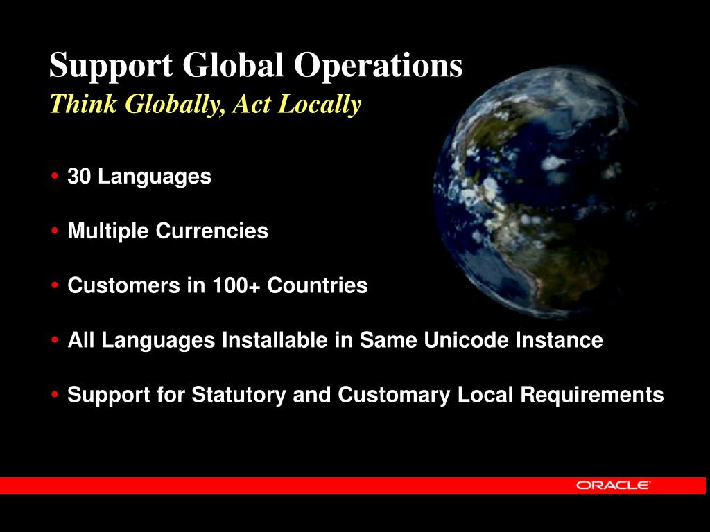 Support Global Operations
