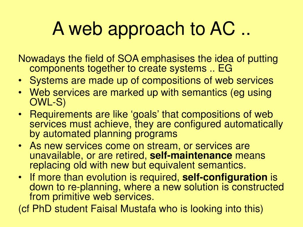A web approach to AC ..
