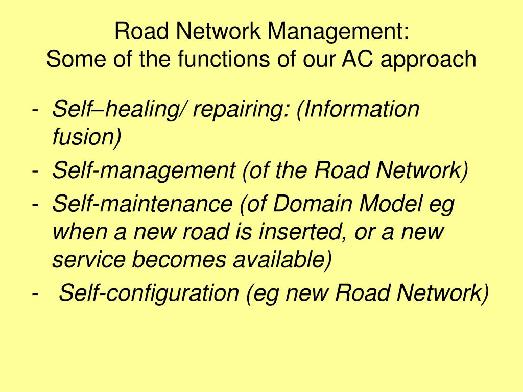 Road Network Management: