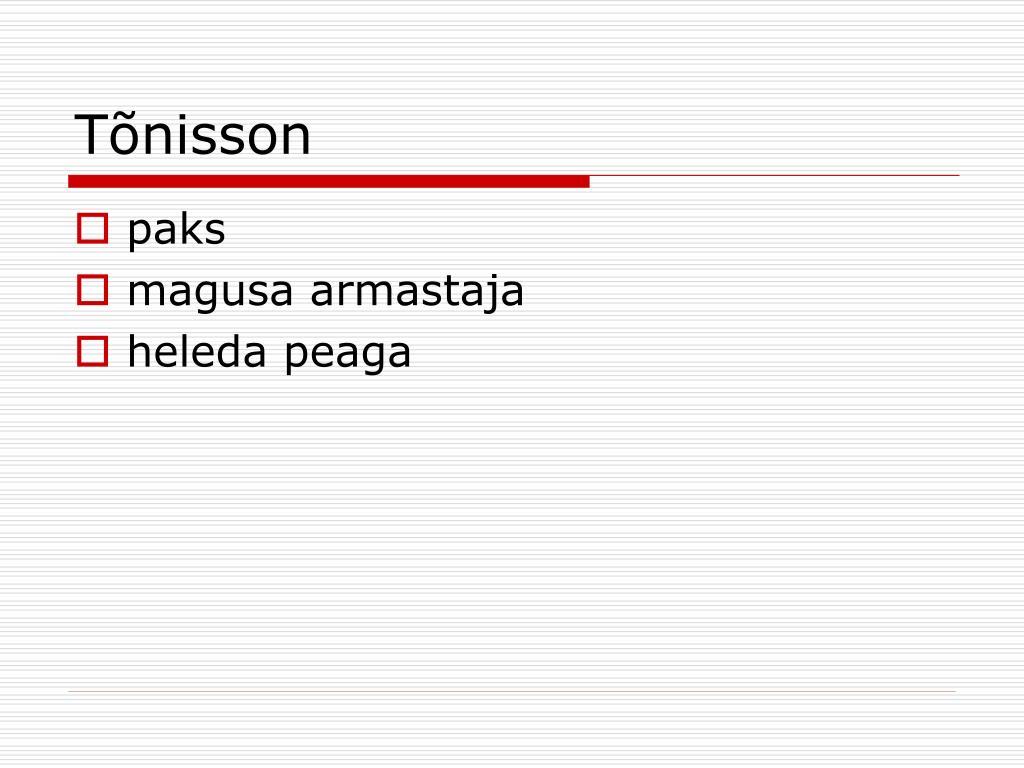 Tõnisson