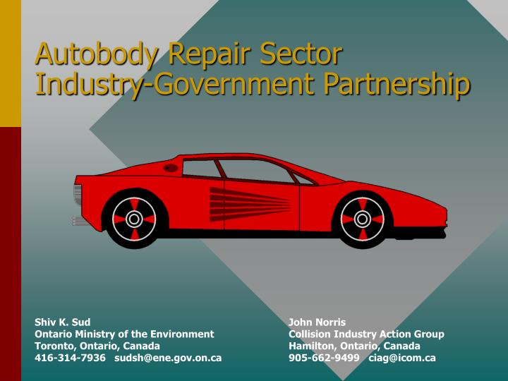 Autobody repair sector industry government partnership