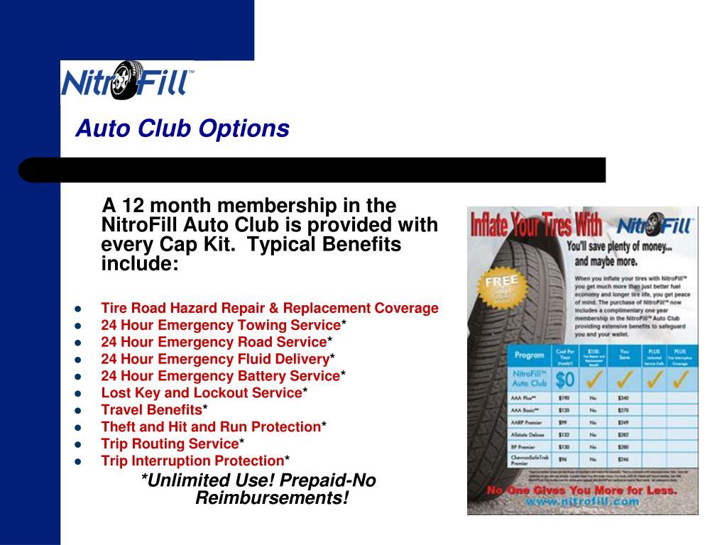 Auto Club Options